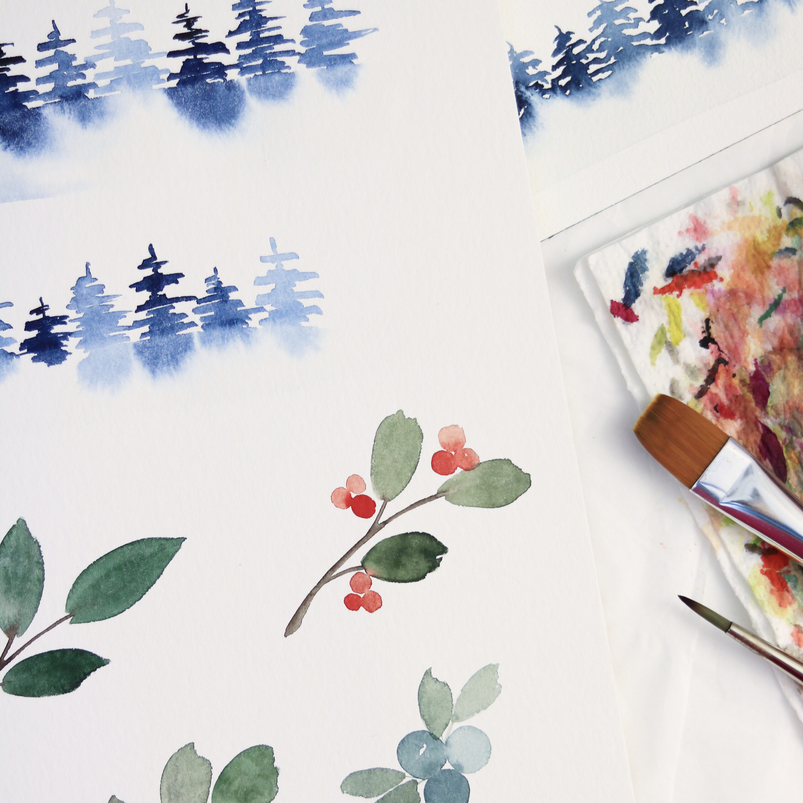 Christmas Watercolor Online Workshop