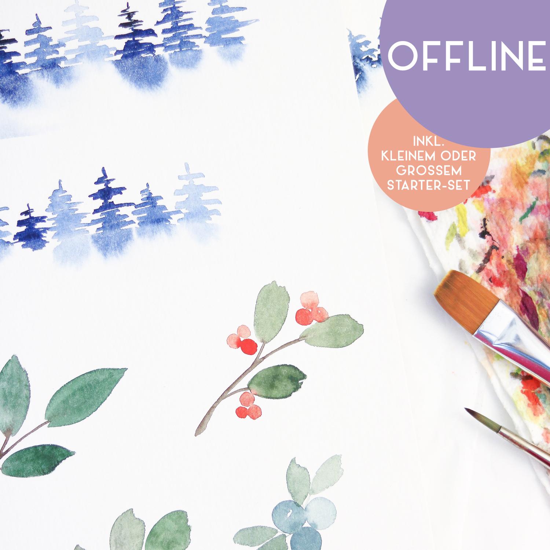 """Workshop """"Christmas Watercolor"""" in Nittenau"""