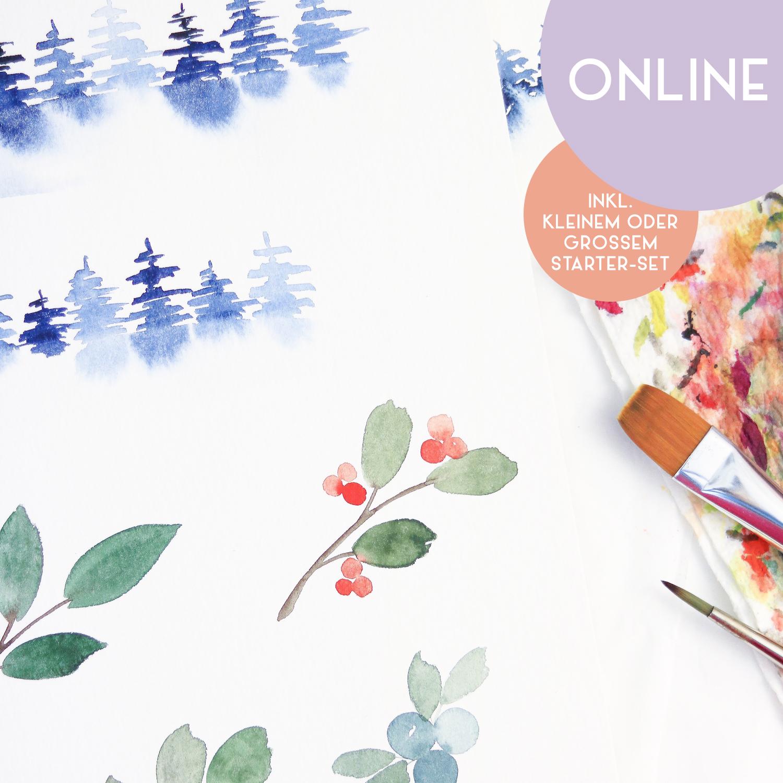 """Workshop """"Christmas Watercolor"""""""