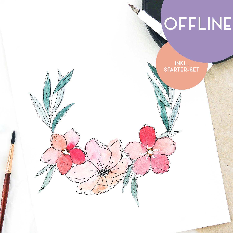 """Workshop """"Floral Watercolor & Ink"""" in Nittenau"""
