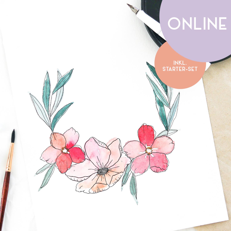 "Workshop ""Floral Watercolor & Ink"""